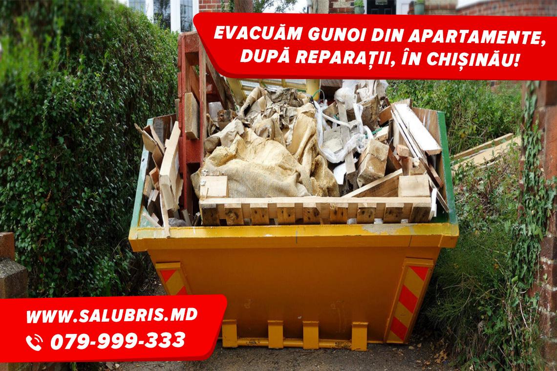 Scoaterea și evacuarea gunoiului din apartament în Chișinău