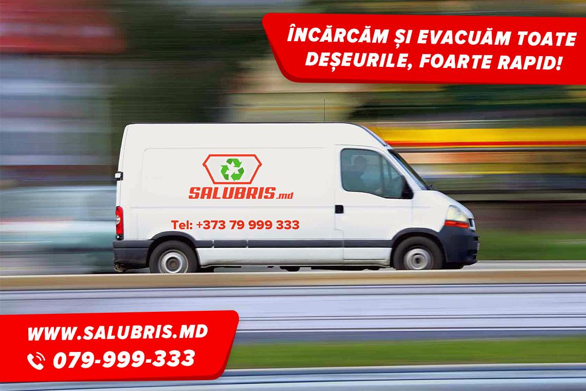 Automobil pentru evacuarea deșeurilor în Chișinău