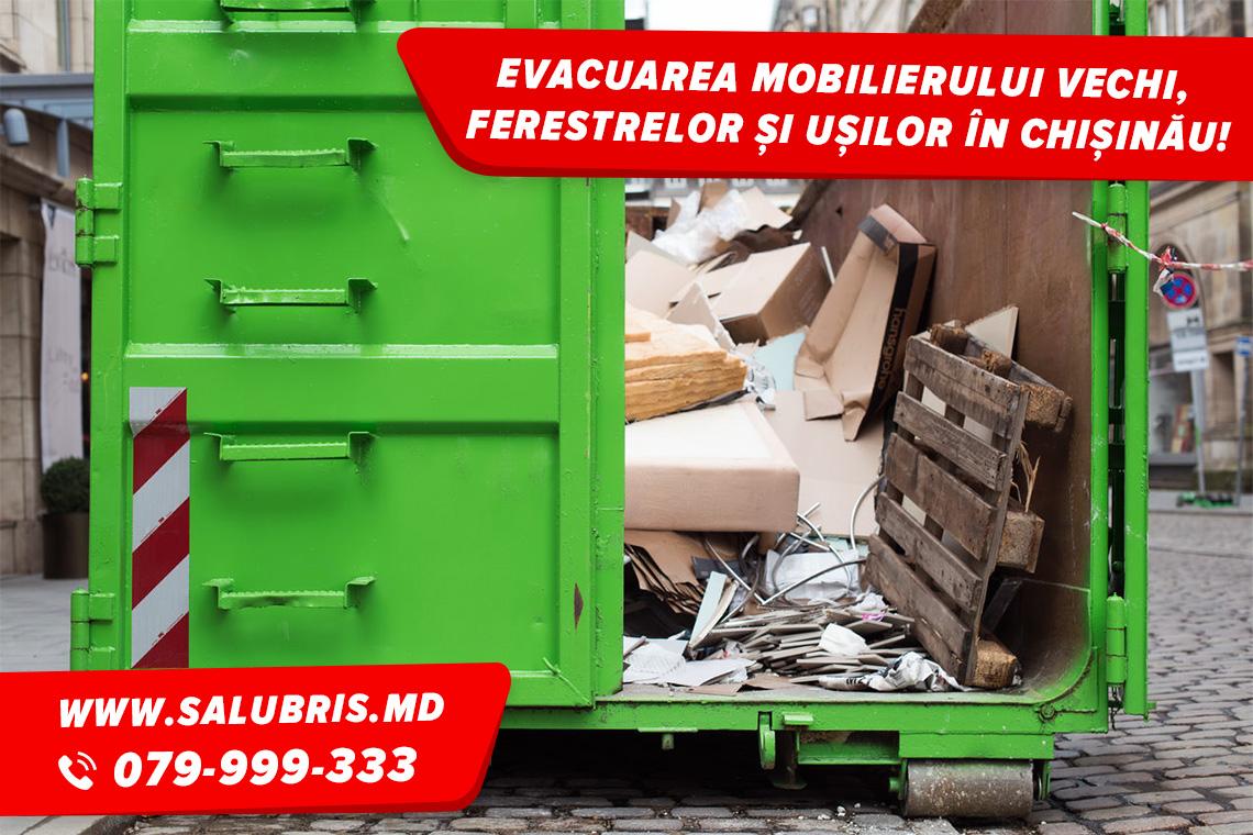 Evacuarea mobilierului vechi în Chișinău