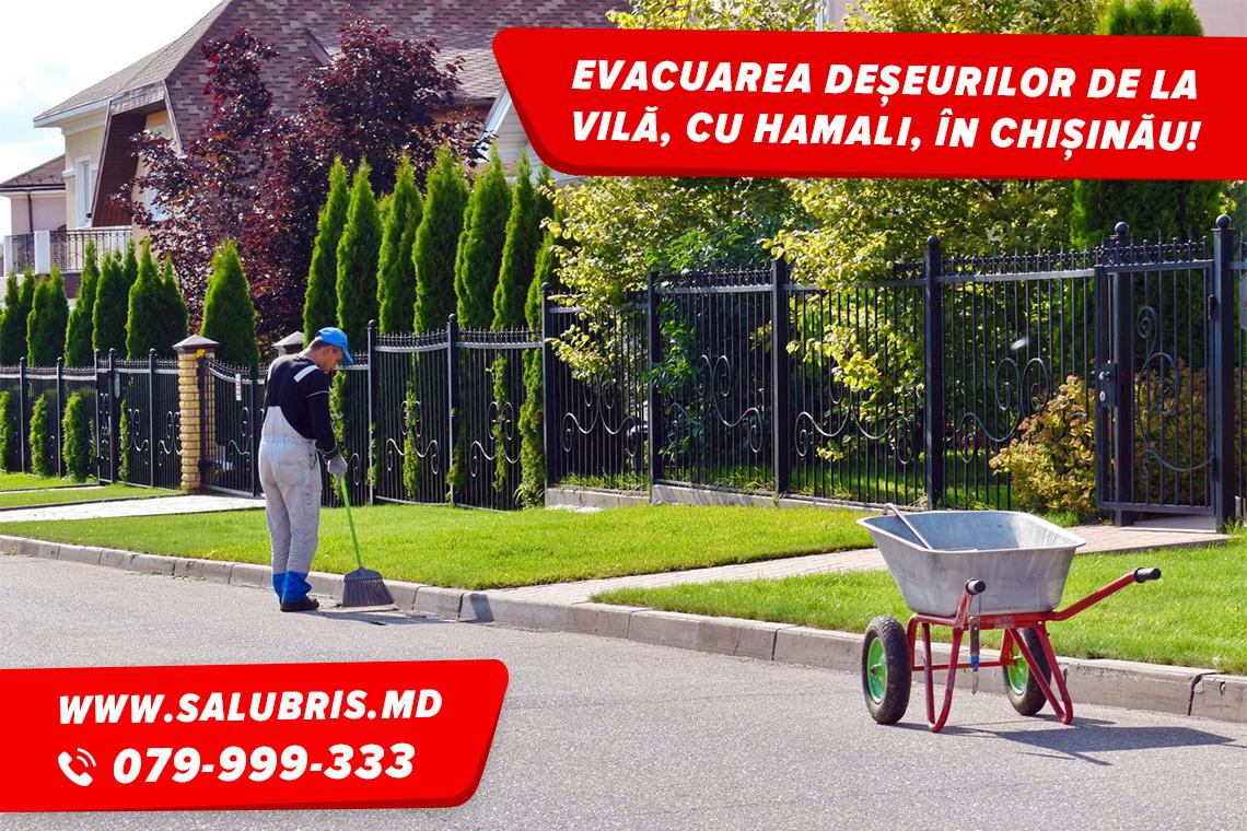 Evacuarea deșeurilor de la casa de vară în Chișinău